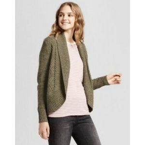 NWT Mossimo green open sweater cardigan size XS